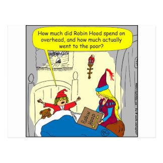 383 Robin Hood obenliegender Cartoon Postkarte
