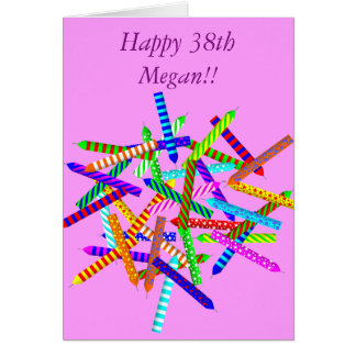 38. Geburtstags-Geschenke Karte