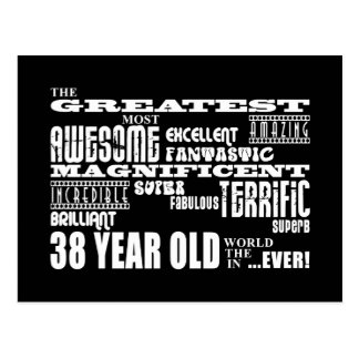 38. Geburtstags-Party-bestste achtunddreißig Postkarte