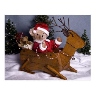 3975 Teddybär-Sankt-Weihnachten Postkarte