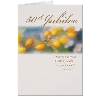 3994_50th Jubiläum-Kreuz im Gold Grußkarte