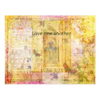 3:23 1John   Liebe SCRPTURE Postkarte