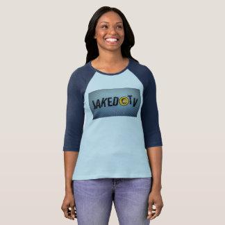3/4 der Baseball-T-Stück JakedTV Frauen T-Shirt