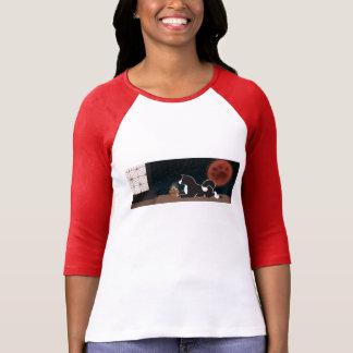 3/4 die Hülsen-T - Shirt der MARS Festival-Frauen