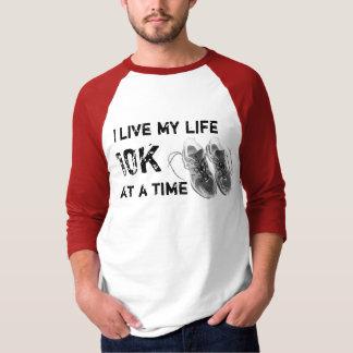 3/4 Raglan - ich lebe mein Leben 10K auf einmal T-Shirt