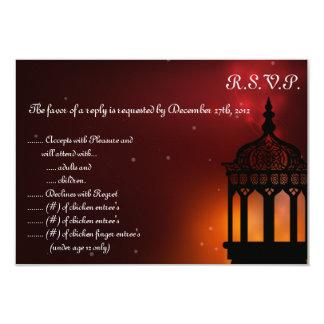 3.5x5 R.S.V.P Antwort-Karte Marron 8,9 X 12,7 Cm Einladungskarte