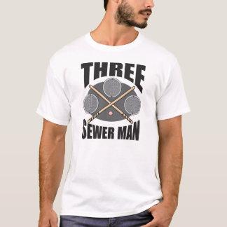 3 Abwasserkanal-Mann! T-Shirt