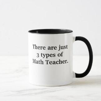 3 Arten Mathe-Lehrer-Schlechtes aber lustiger Witz Tasse