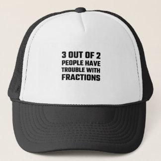 3 aus 2 Leuten heraus haben Sie Problem mit Truckerkappe