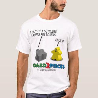 3 aus 4 Siedler-Spielern heraus sind Verlierer T-Shirt