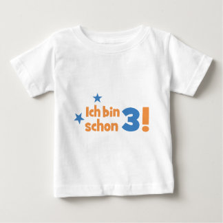 3 birthday baby t-shirt
