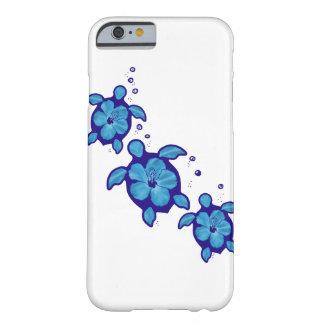 3 blaue Honu Schildkröten Barely There iPhone 6 Hülle