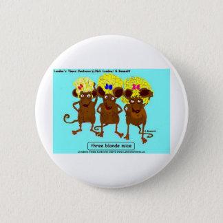 3 blonde Mäuselustige T-Shirts-Tassen-Karten u. Runder Button 5,7 Cm