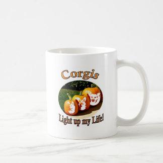 3 Corgis leuchten meinem Leben Kaffee Haferl