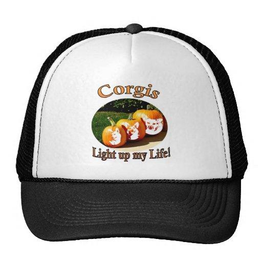 3 Corgis leuchten meinen Leben-Kürbisen Kultcaps