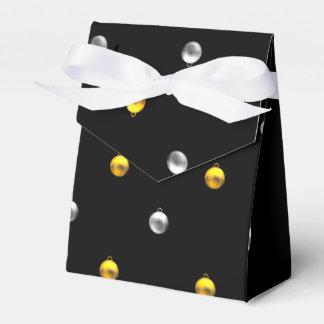 3-D Blick-Silber-und Goldfeiertags-Verzierungen Geschenkschachtel
