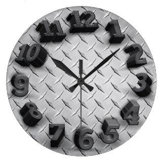 3-D Diamant-Platten-runde Wanduhr