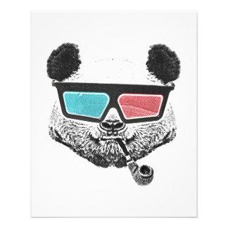 3-D Gläser des Vintagen Pandas 11,4 X 14,2 Cm Flyer
