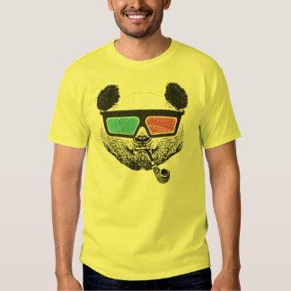 3-D Gläser des Vintagen Pandas Hemd