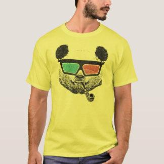 3-D Gläser des Vintagen Pandas T-Shirt