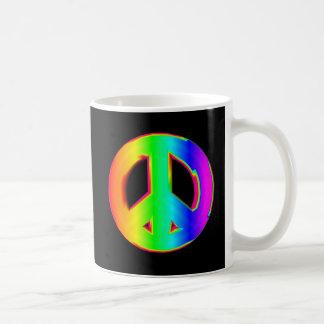 3-D Regenbogen-Friedenszeichen #1 Kaffeetasse