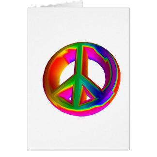 3-D Regenbogen-Friedenszeichen #3 Karte