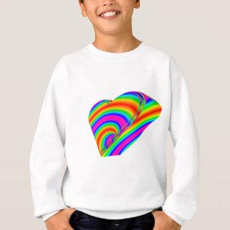 3-D Regenbogen-Herz Sweatshirt