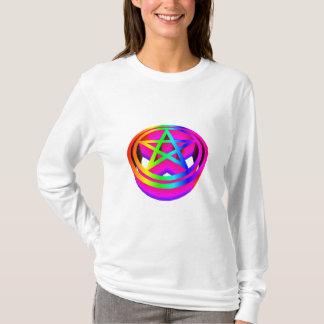 3-D Regenbogen-Pentagramm T-Shirt