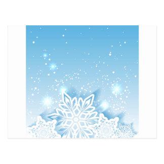 3-D Schneeflocken Postkarte