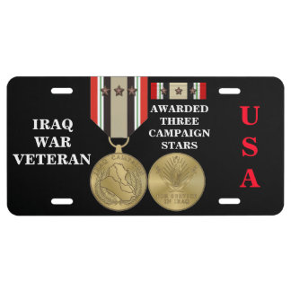 3 DER KAMPAGNEN-STERN-IRAK-KRIEGSVETERAN US NUMMERNSCHILD