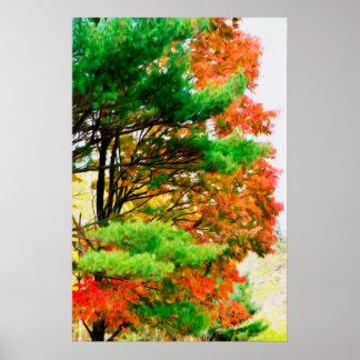 3 Farben der Natur 1 Poster