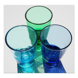 3 farbige Cocktail-Schnapsglas - Art 1 Plakate