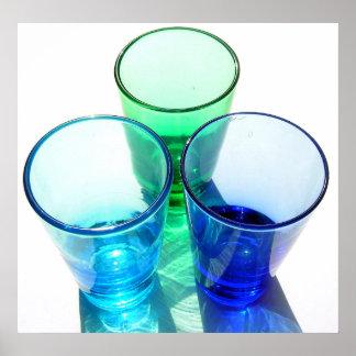 3 farbige Cocktail-Schnapsglas - Art 4 Plakat