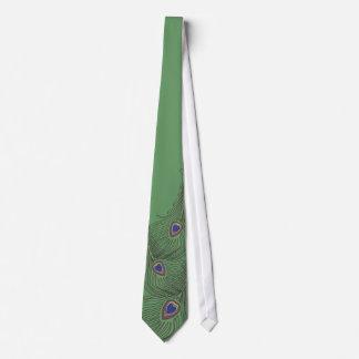 3 Feder-Pfau-Krawatte für Hochzeiten Krawatte