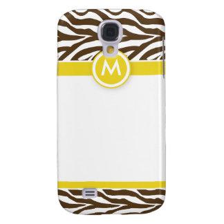 3 flippige Zebra-Zitrone/Schokolade Galaxy S4 Hülle