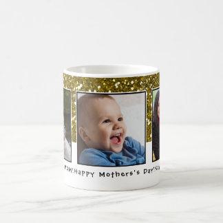 3 Foto-Collagen-GoldGlitzer-Mutter-Tag Kaffeetasse