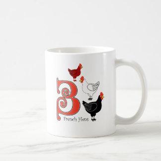 3 französische Hennen Kaffeetasse