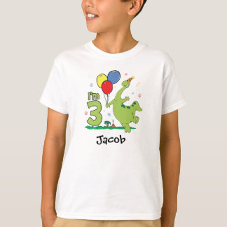 3. Geburtstag Dino T-Shirt