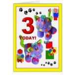 3. Geburtstag Grußkarte