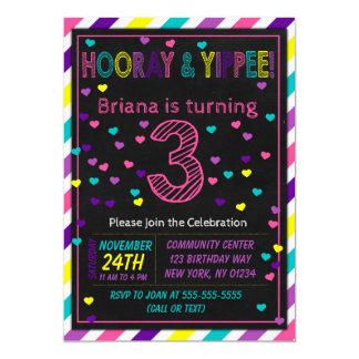 3. Geburtstags-Einladung für ein Karte