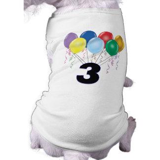 3. Geburtstags-Geschenke mit Ballonen Haustier T-shirts