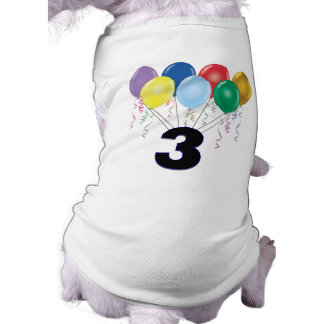 3. Geburtstags-HundeT - Shirt mit Ballonen Hunde Shirts