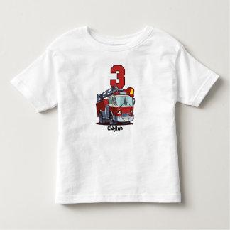 3. Geburtstags-Löschfahrzeug Kleinkind T-shirt