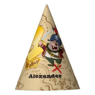 3. Geburtstags-Piraten-Schatz-Karte Partyhütchen