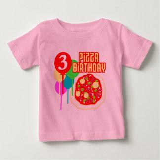 3. Geburtstags-Pizza-Geburtstag Baby T-shirt