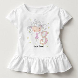 3. Geburtstags-rosa Prinzessin Kleinkind T-shirt