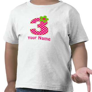 3. Geburtstags-rosa und grüner T Shirts