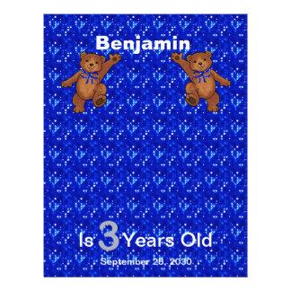 3. Geburtstags-Tanzen-Bärn-Einklebebuch-Papier 1 21,6 X 27,9 Cm Flyer