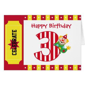 3. Geburtstags-wellenartig bewegende Karte