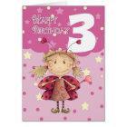 3. Geburtstagskarte mit niedlicher Marienkäferfee Karte